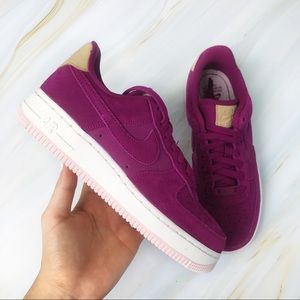 New Nike Air Force 1 '07 Premium in Berry